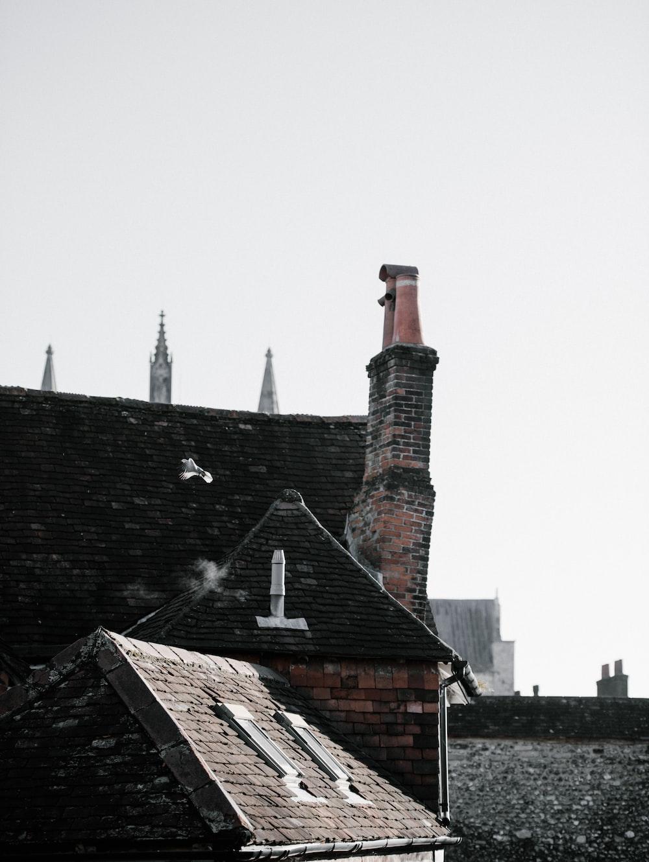 black concrete roof tiles