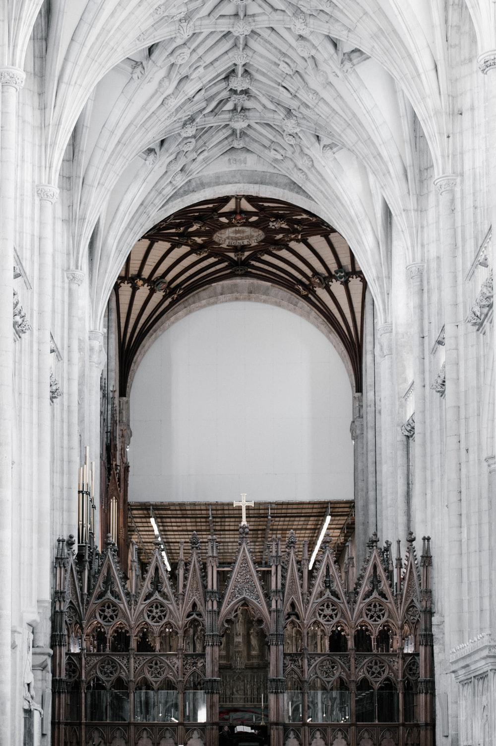 white cathedral ceiling