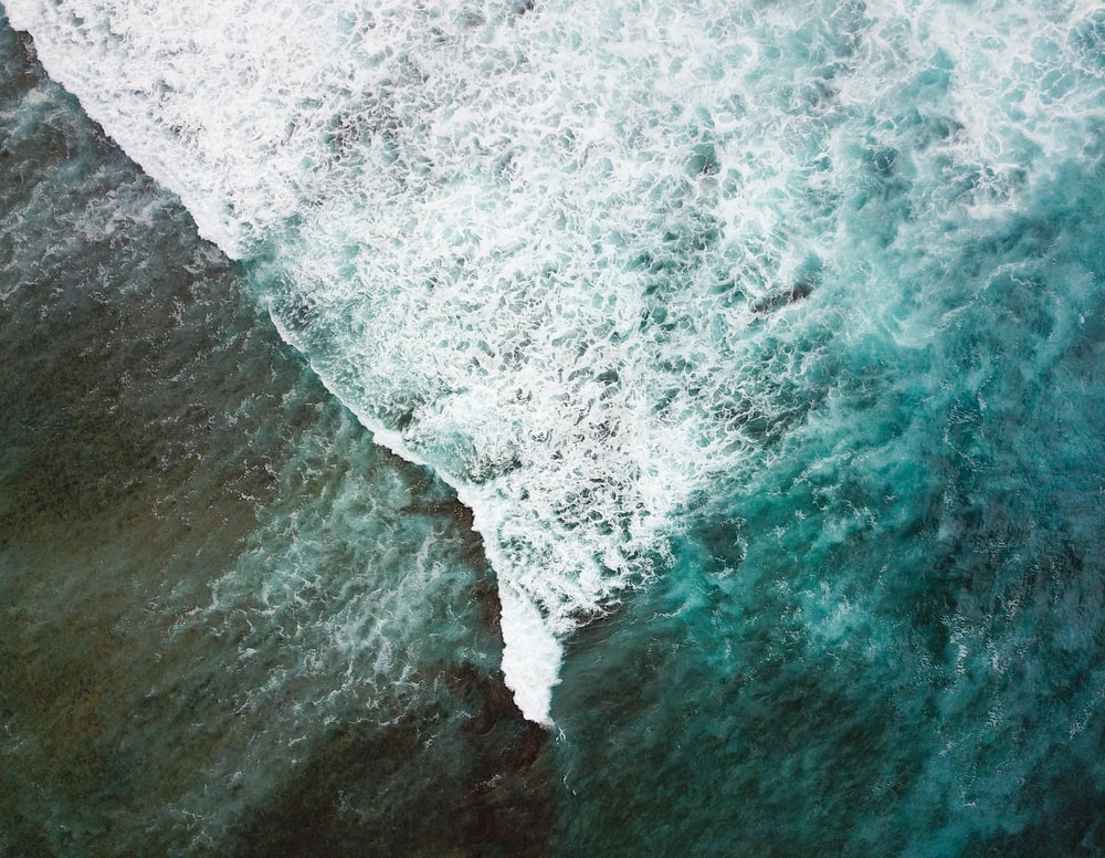 aerial photo of body of water