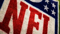red, white, and blue NFL area rug