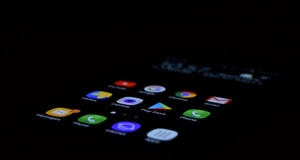 turned on Android smartphone
