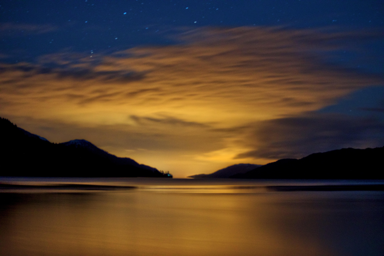 silhouette over horizon