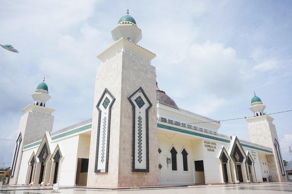 photo of white concrete mosque