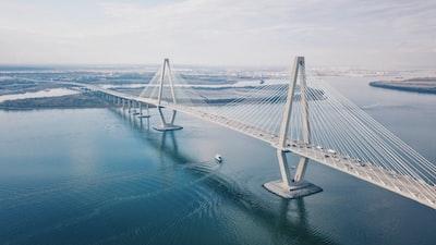 aerial photo of bridge during daytime bridge teams background