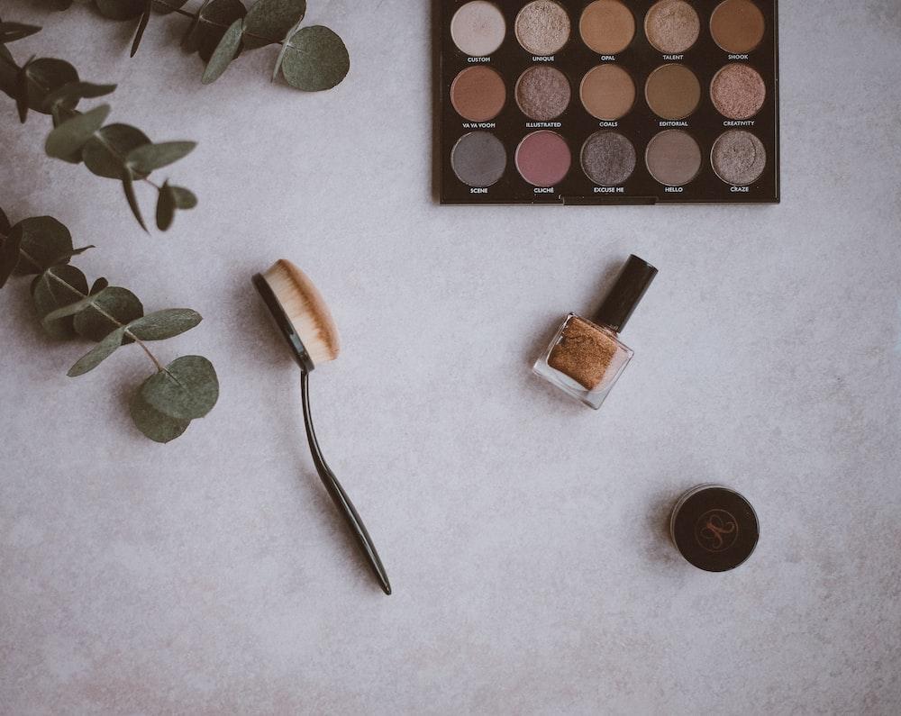 top view photo beauty cosmetics