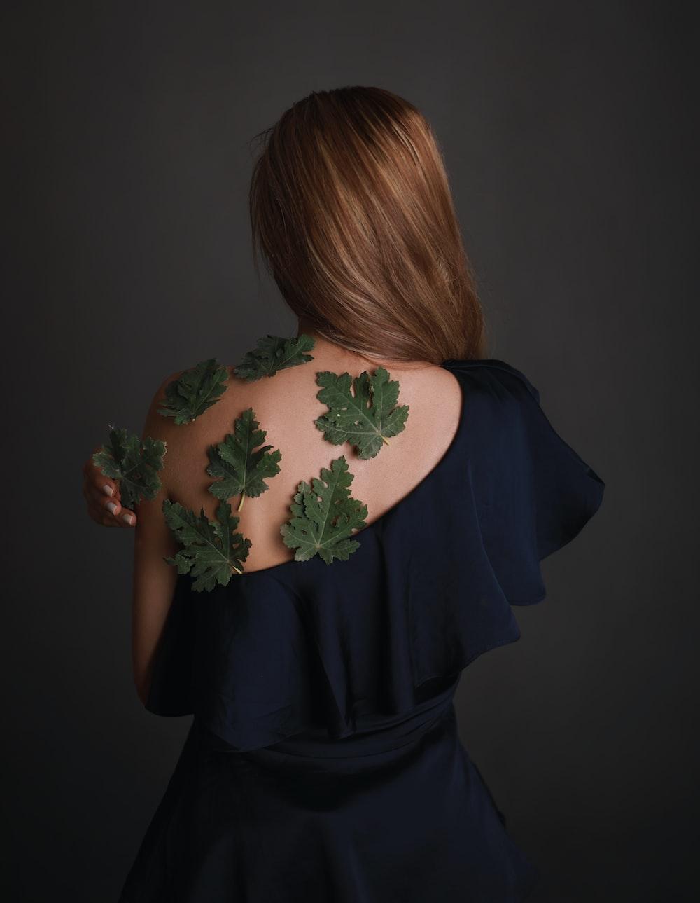women's black one shoulder dress