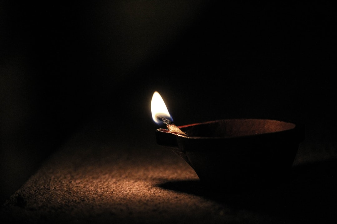 The traditional light festival celebrated in India mainly around the south. They light up candles like this in homes to celebrate it.