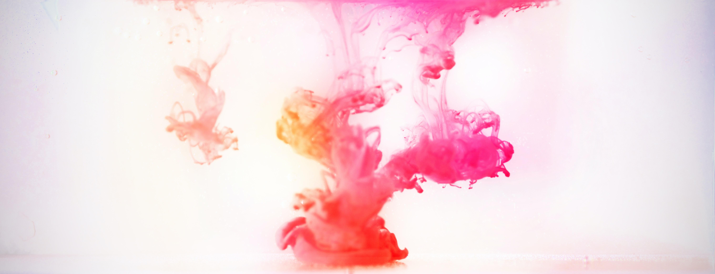pink and orange smoke