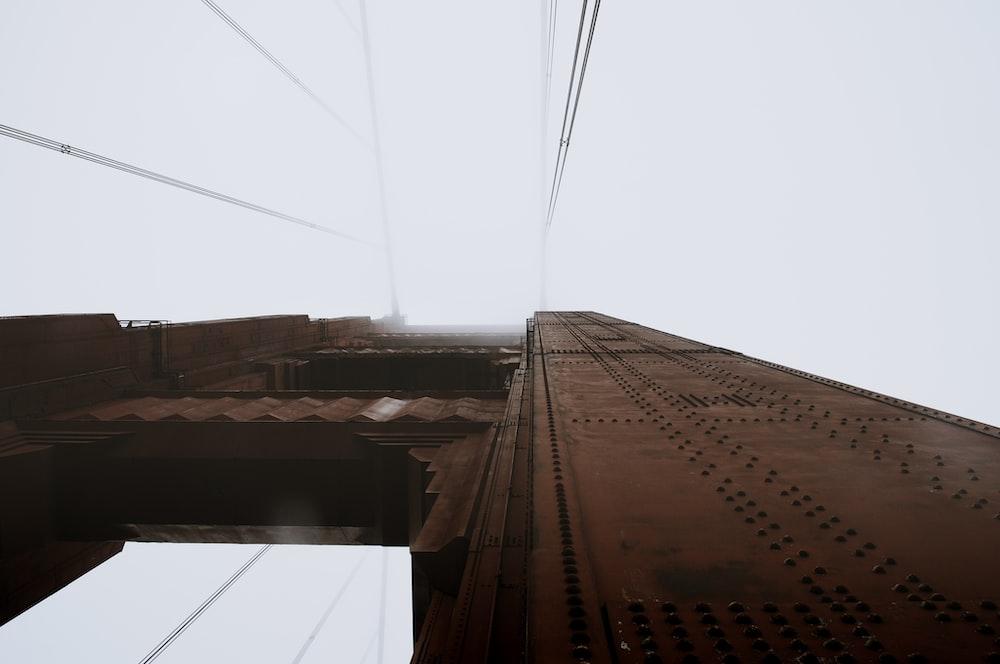worm's-eye view photography of San Francisco Bridge during daytime