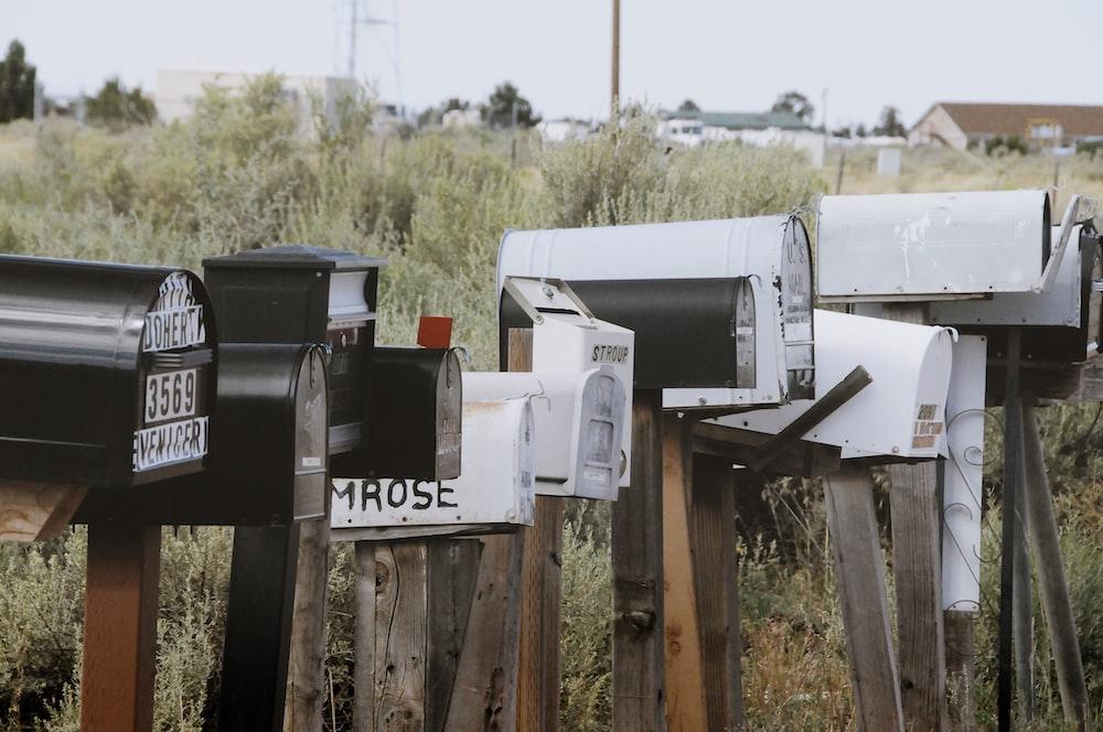 letterbox near grass field