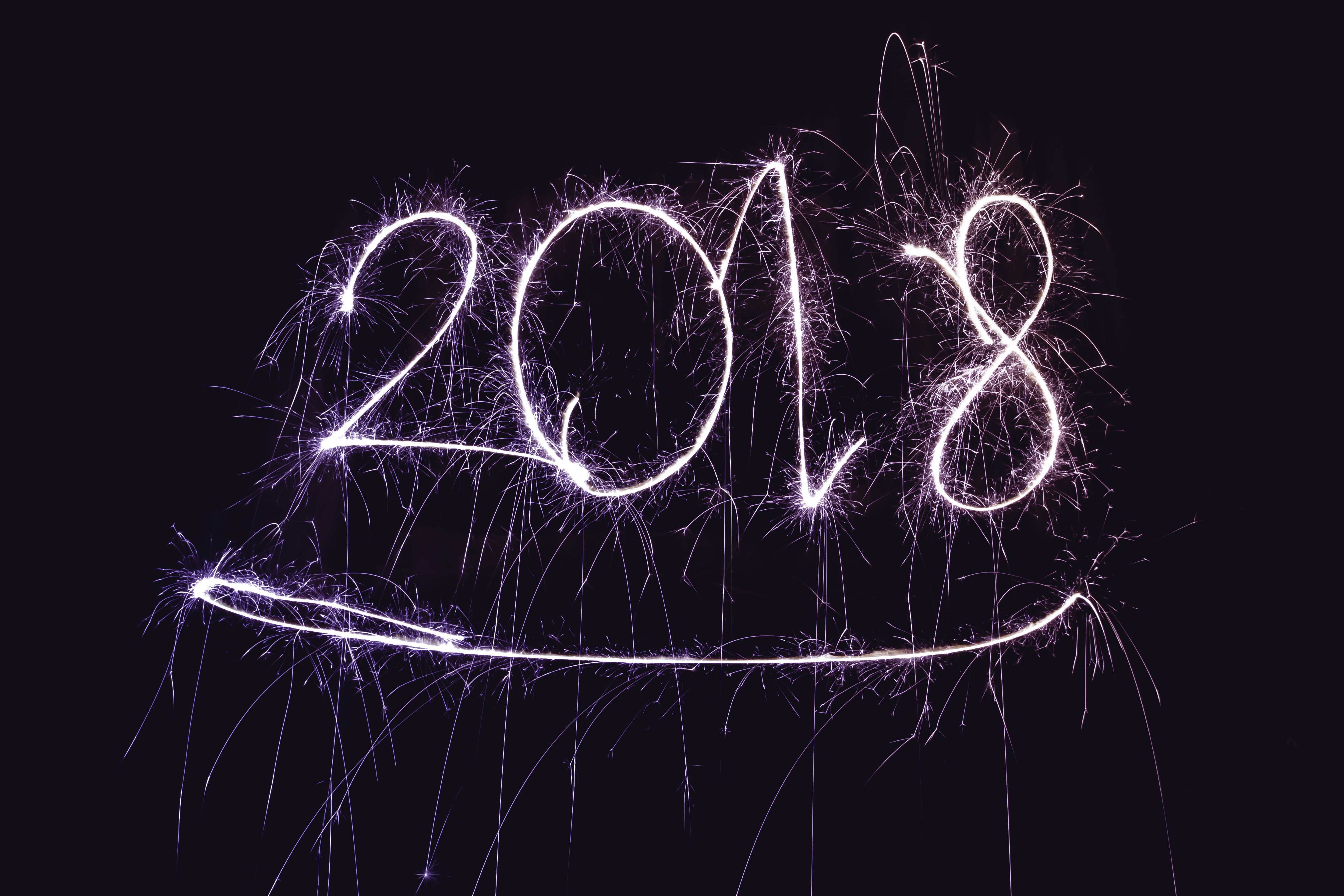 happy new year 2018 with firework