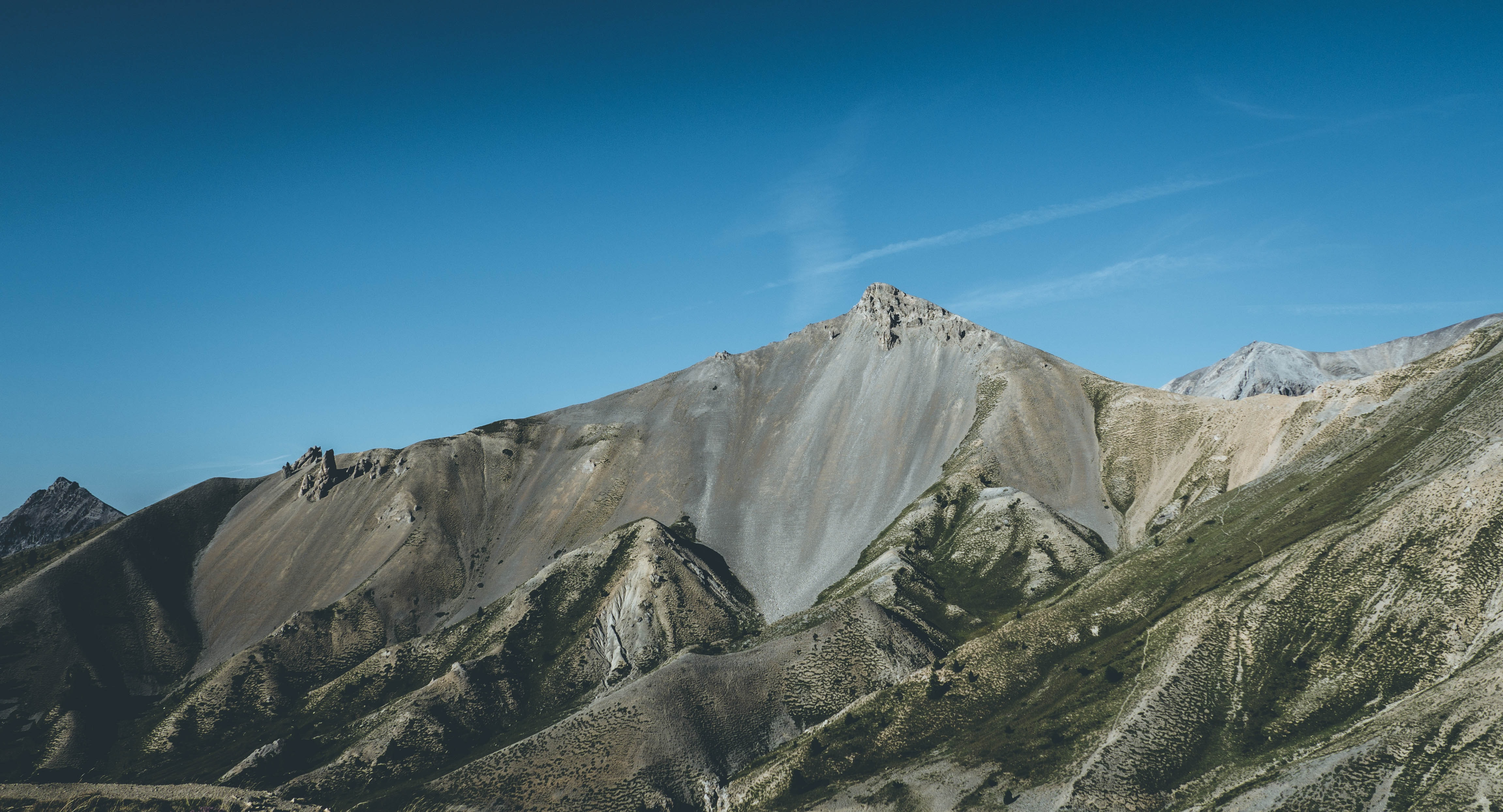 photo of brown mountain
