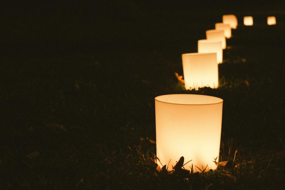 lamp lot during night time