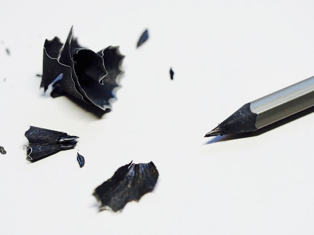 Black pencil shavings