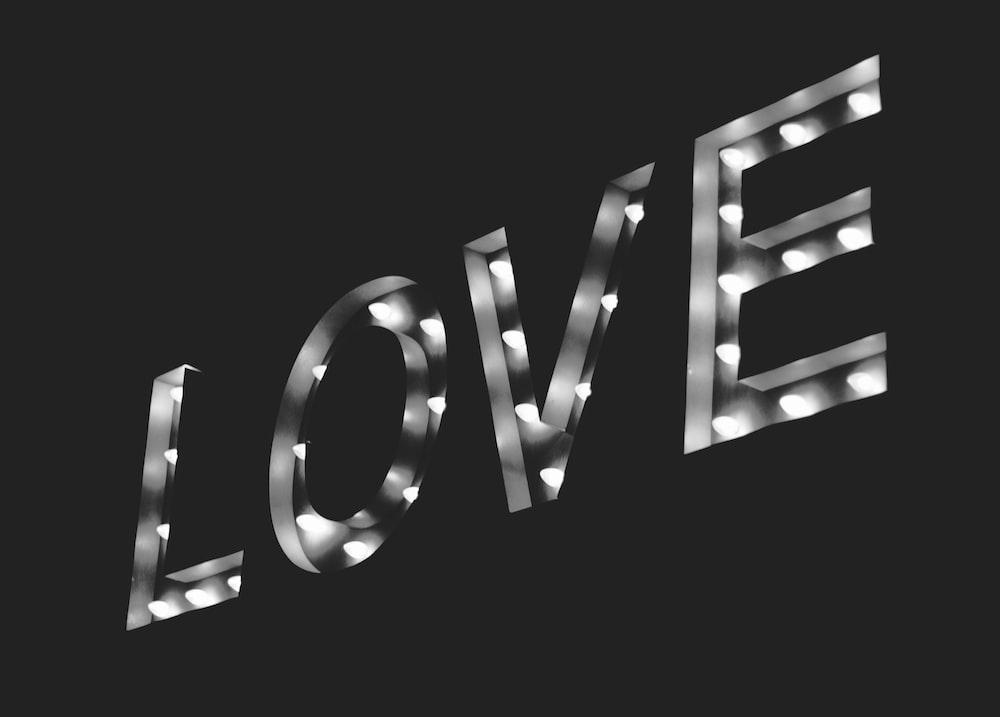 LOVE LED signage