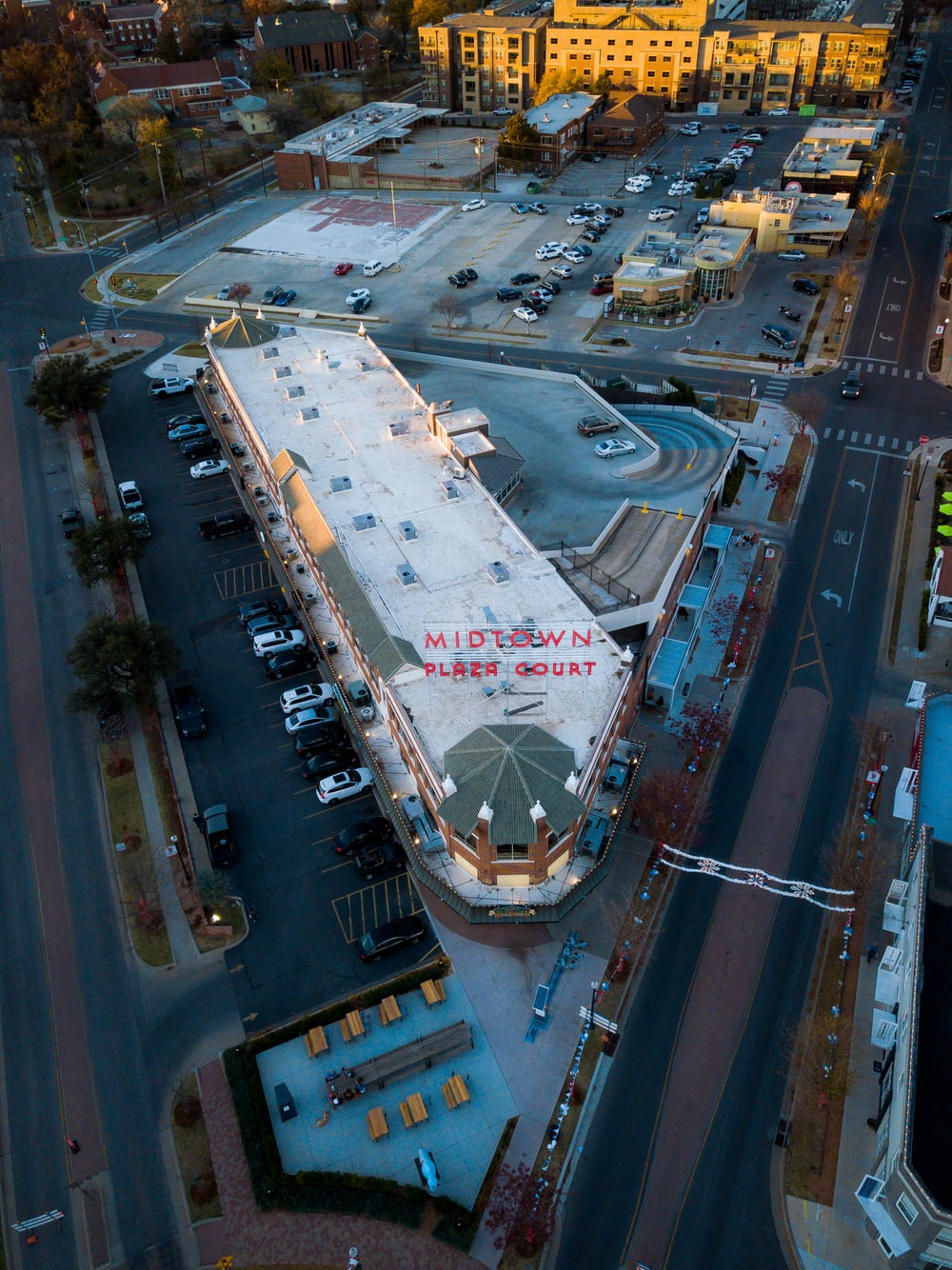 high-angle photo of cityscape