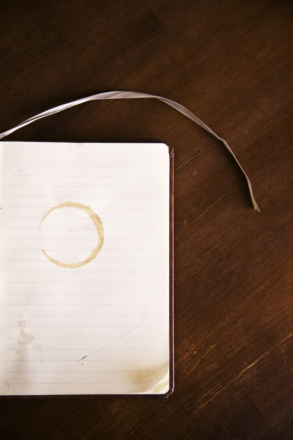 book and brown surface