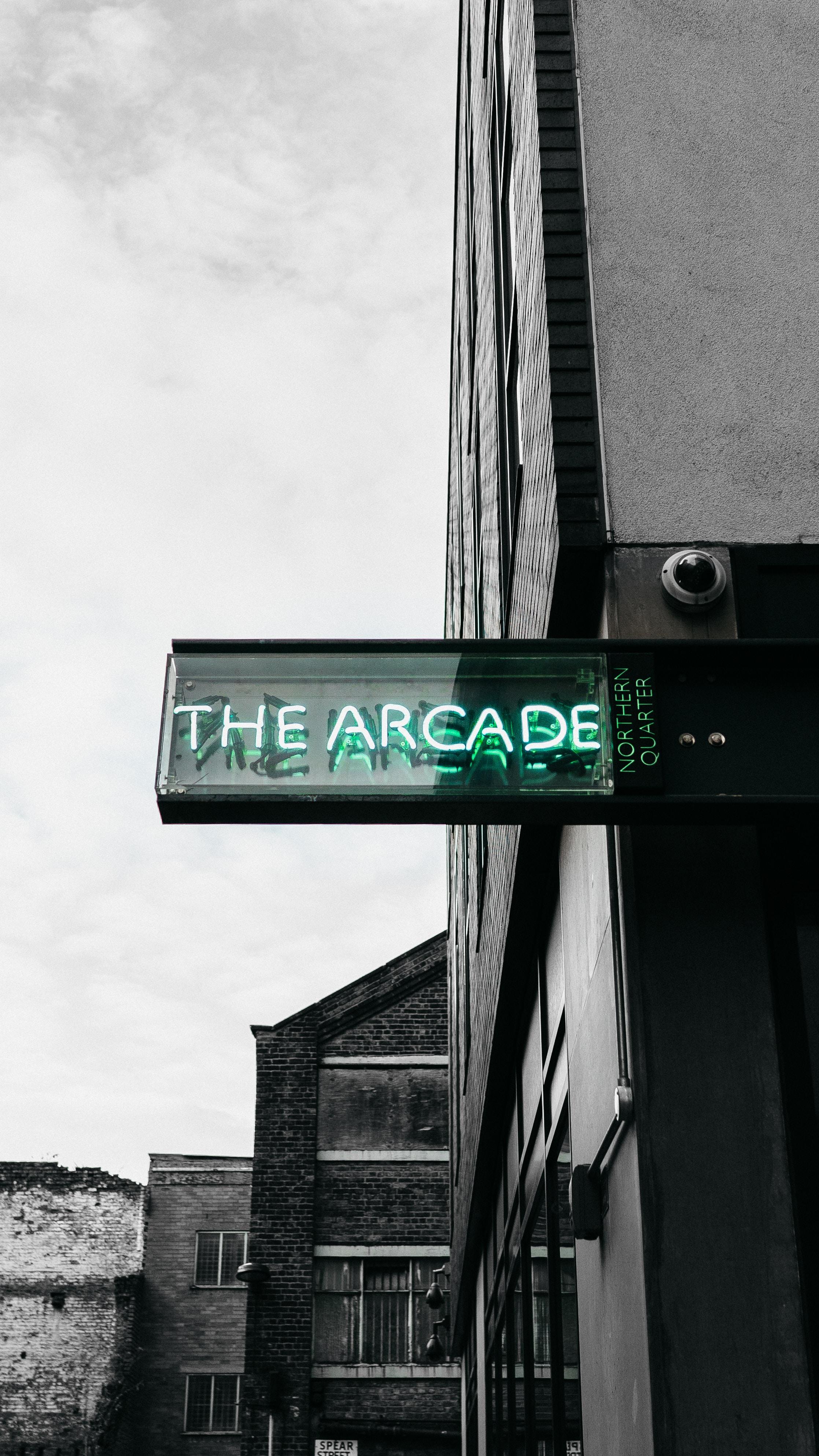 The Arcade signage