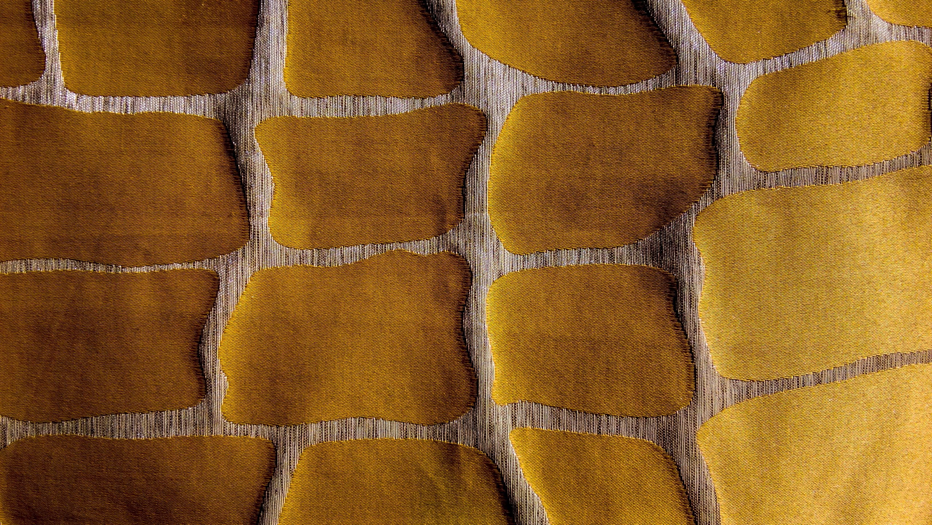 yellow and beown textile