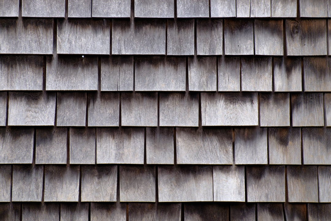 Detail view of the cedar shingles that adorn the homes of Nantucket.
