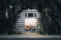 gray steel door