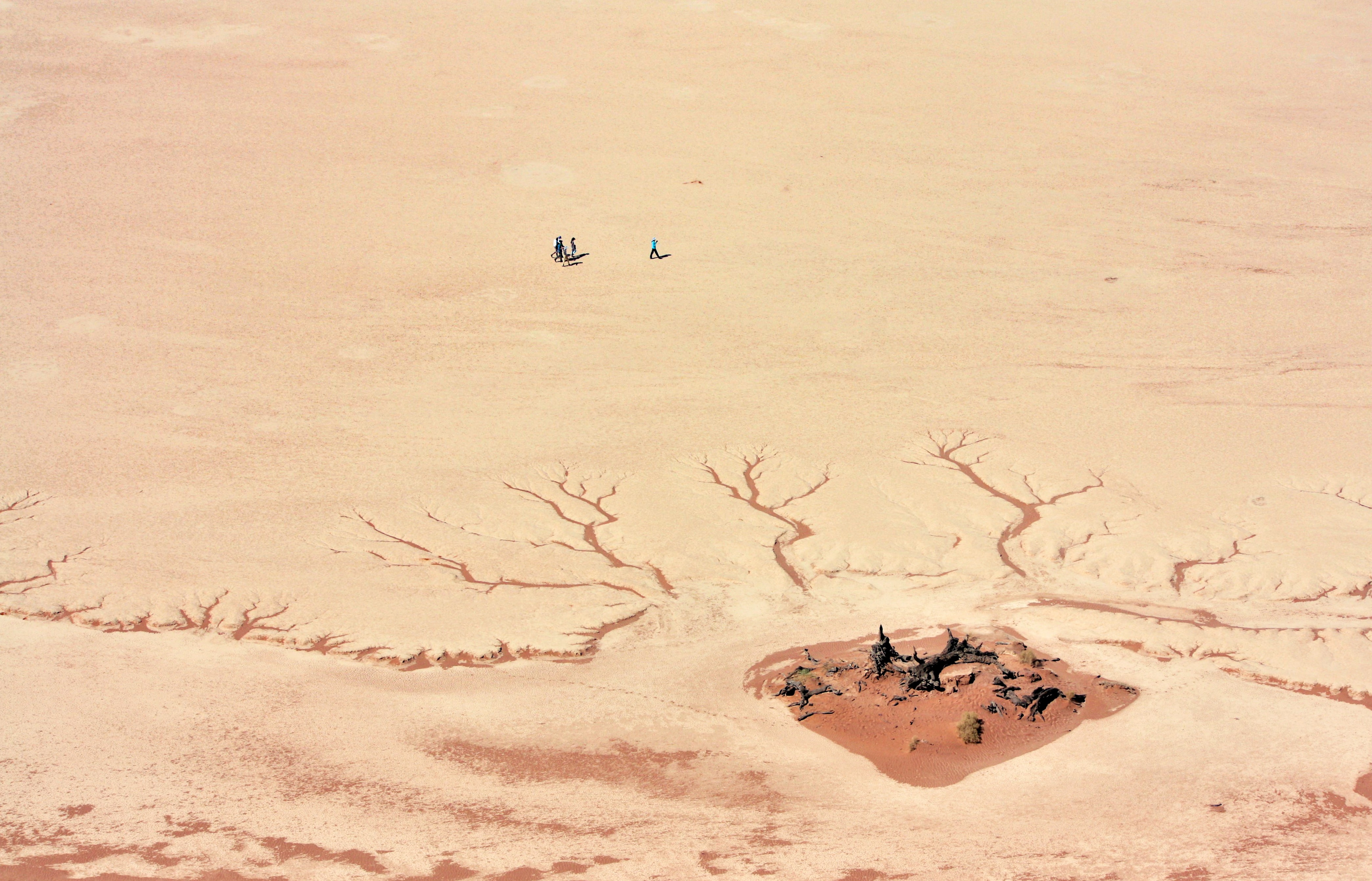 aerial view of desert during daytime