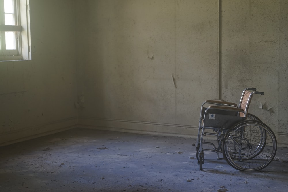 grey wheelchair