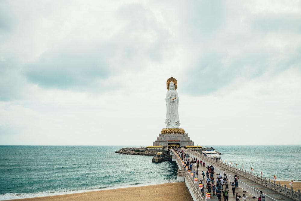 monument of Deity on island