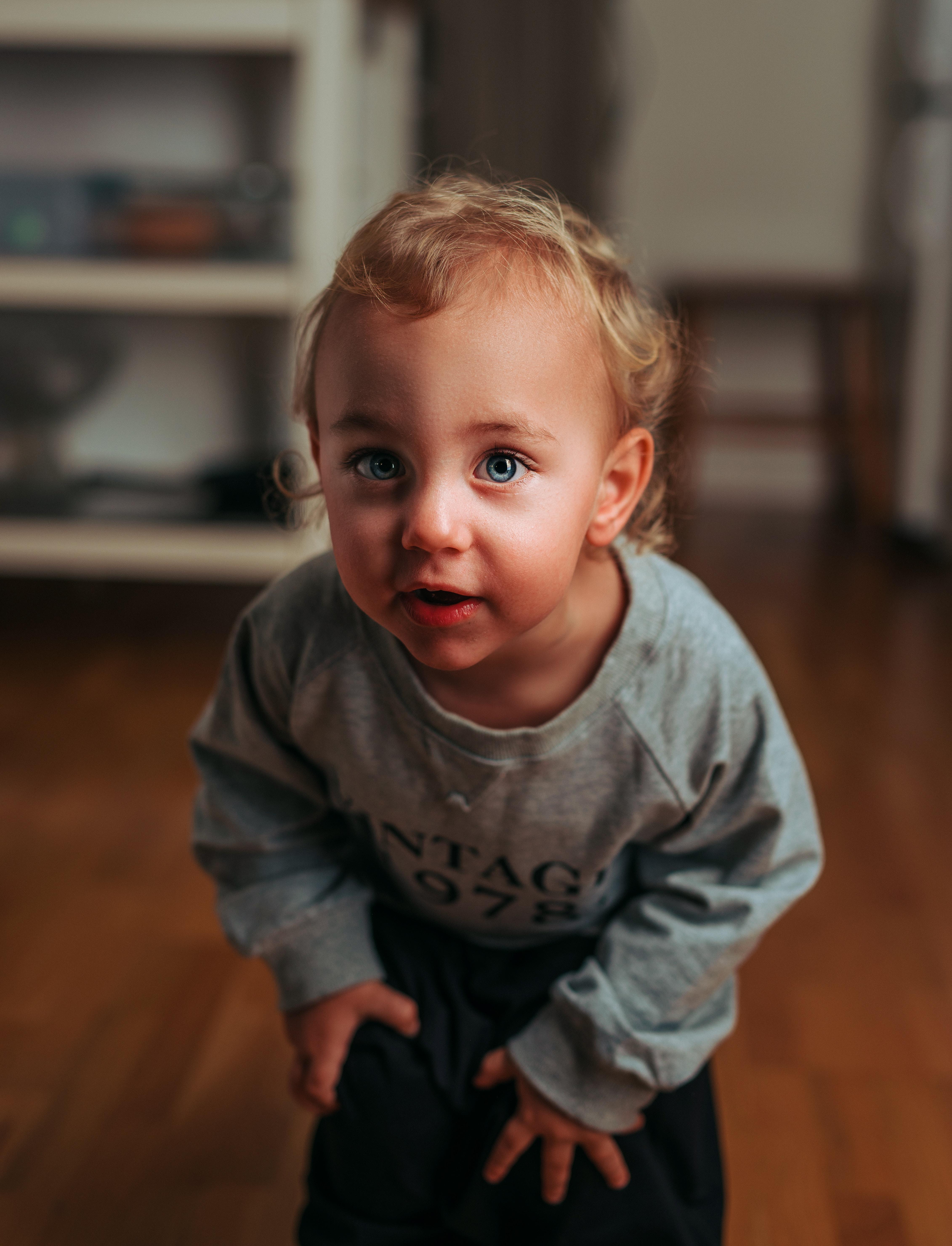 boy holding his knee