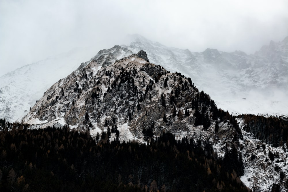 landscape photography of mountain covered with snow