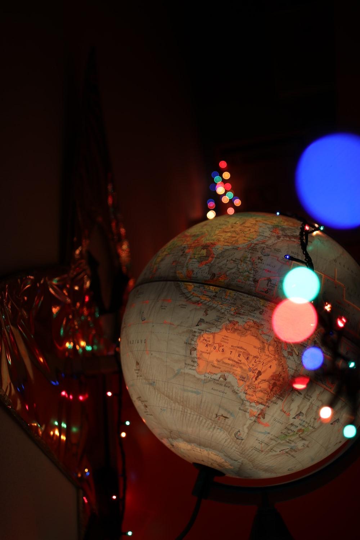 photography of globe model