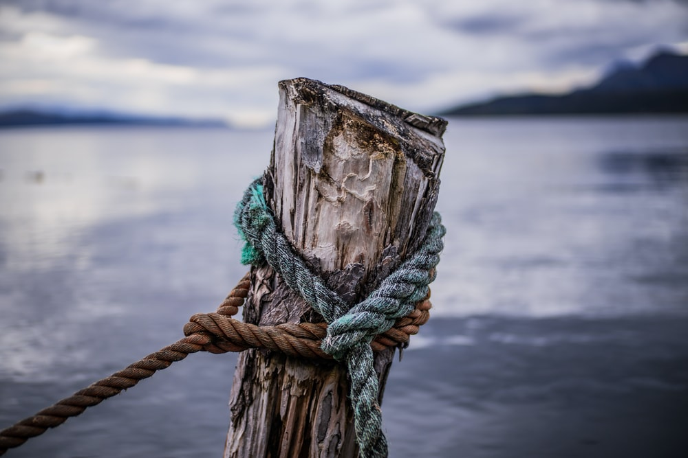 green and brown rope on brown loh