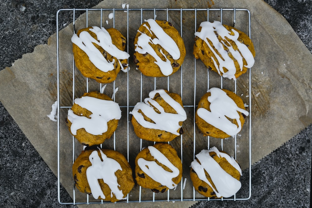 cookies with white toppings