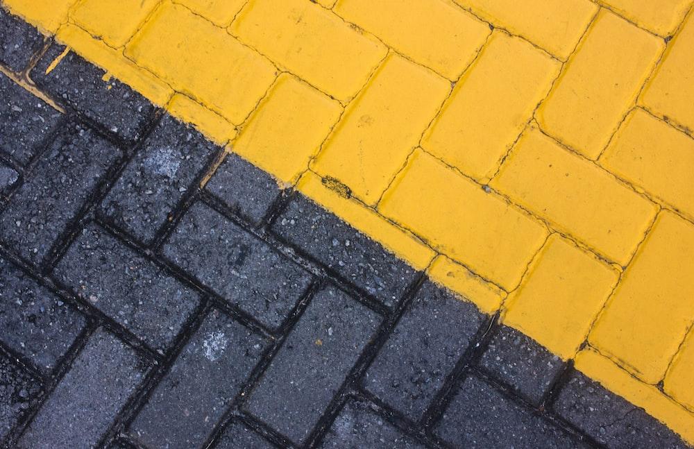 black and yellow bricks