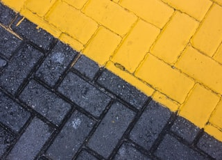 black and yellow bricks