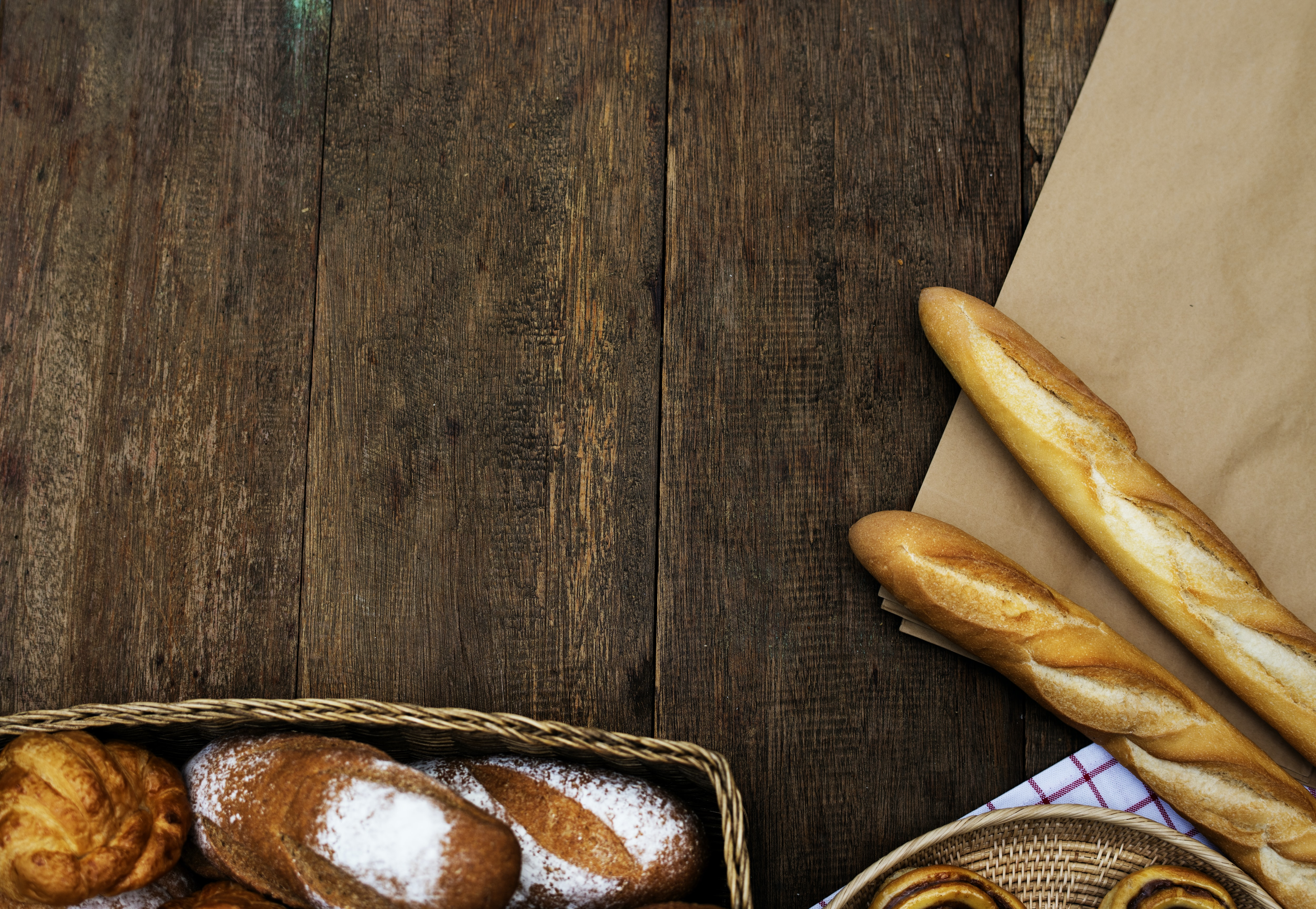 close up photo of leavened breads on basket