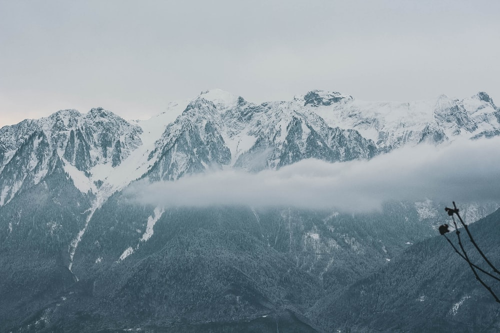 photo of mountains covered by snow