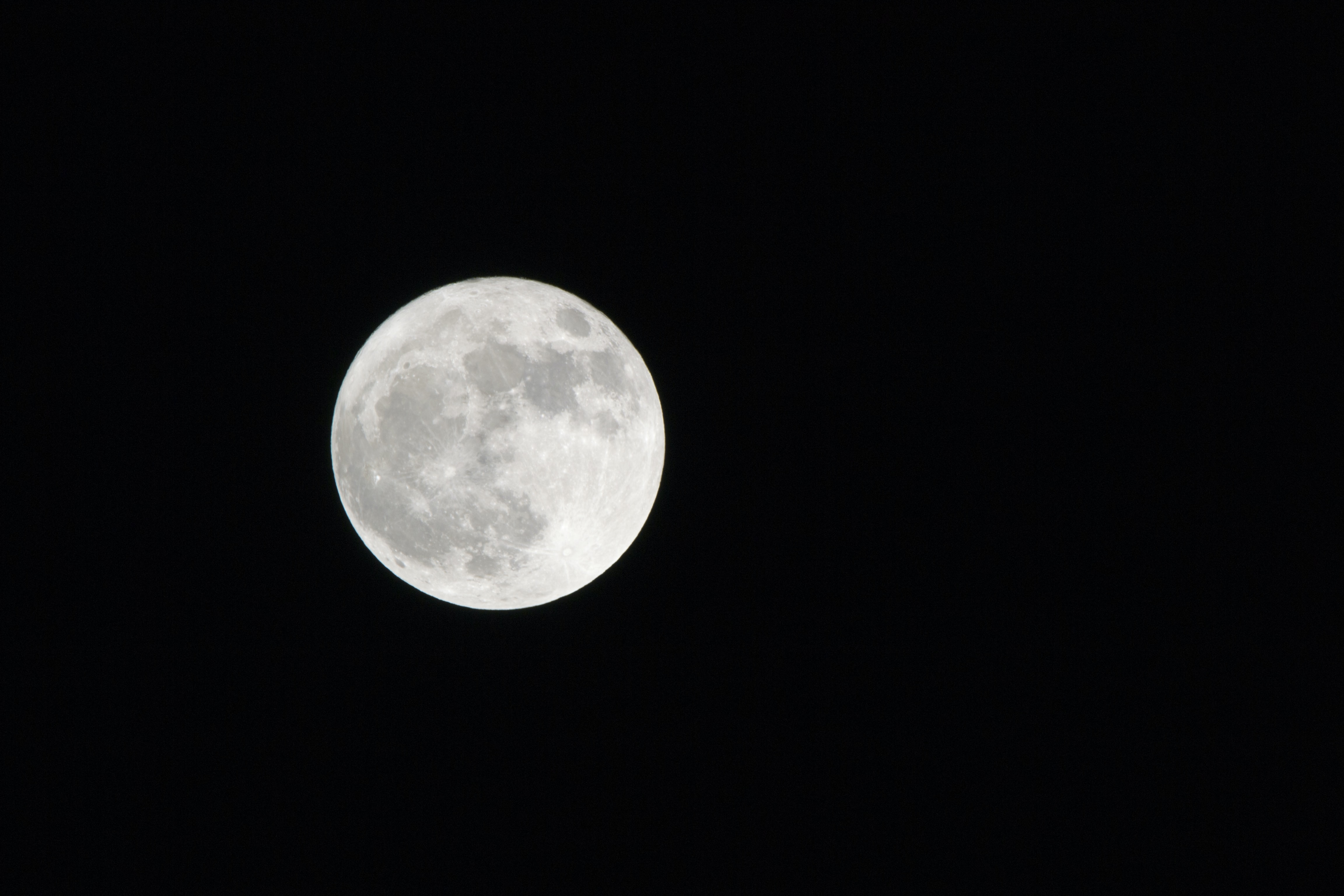 moon against back background