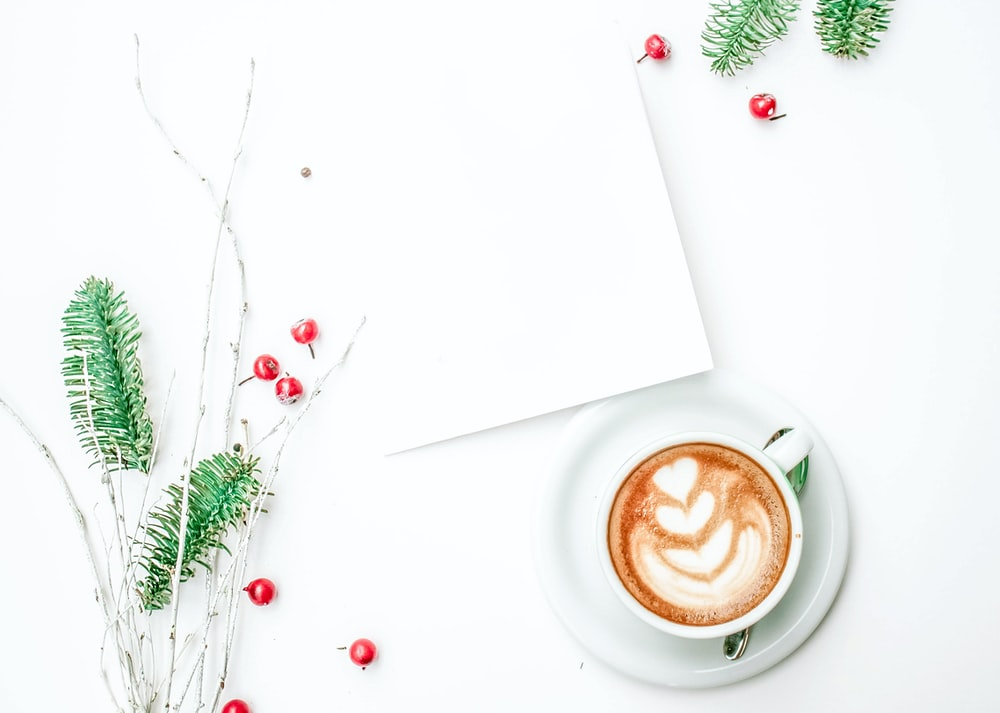 coffee latte art on table
