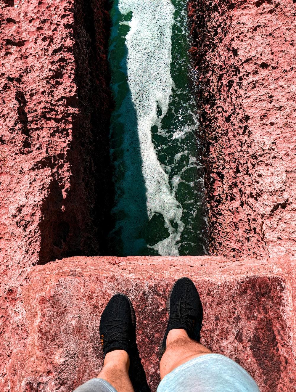 high angle photo of water