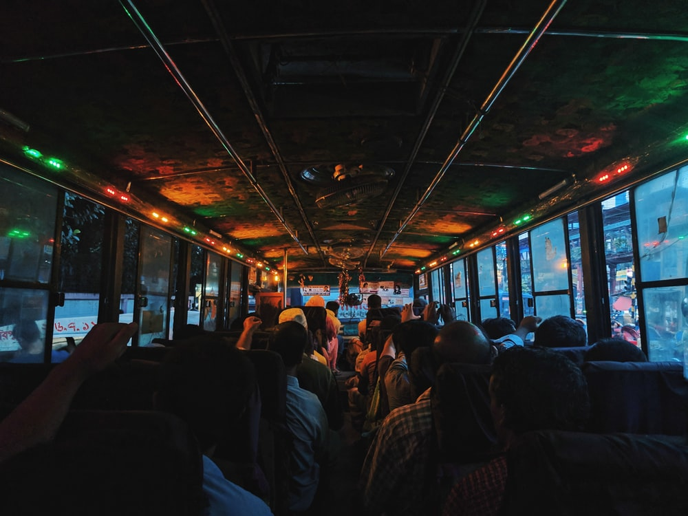 person inside bus