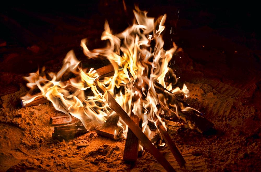 firewood burning