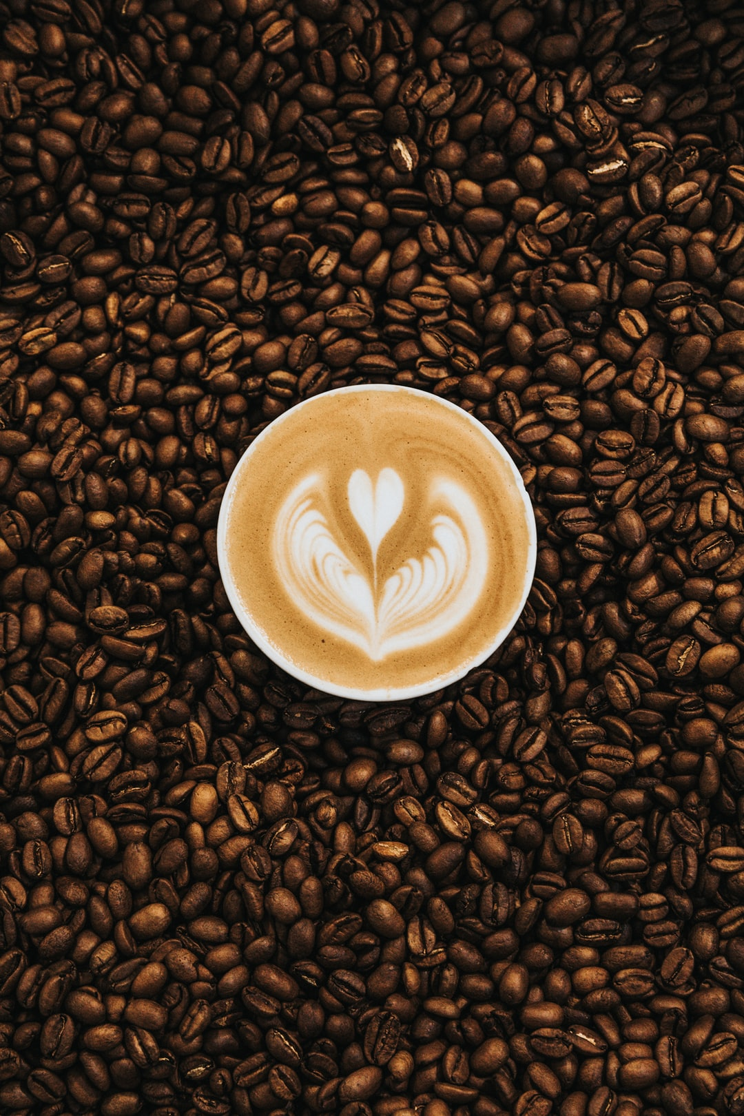 top view photography of heart latte u003cbu003ecoffeeu003c/bu003e photo u2013 Free u003cbu003eCoffeeu003c/bu003e Image ...