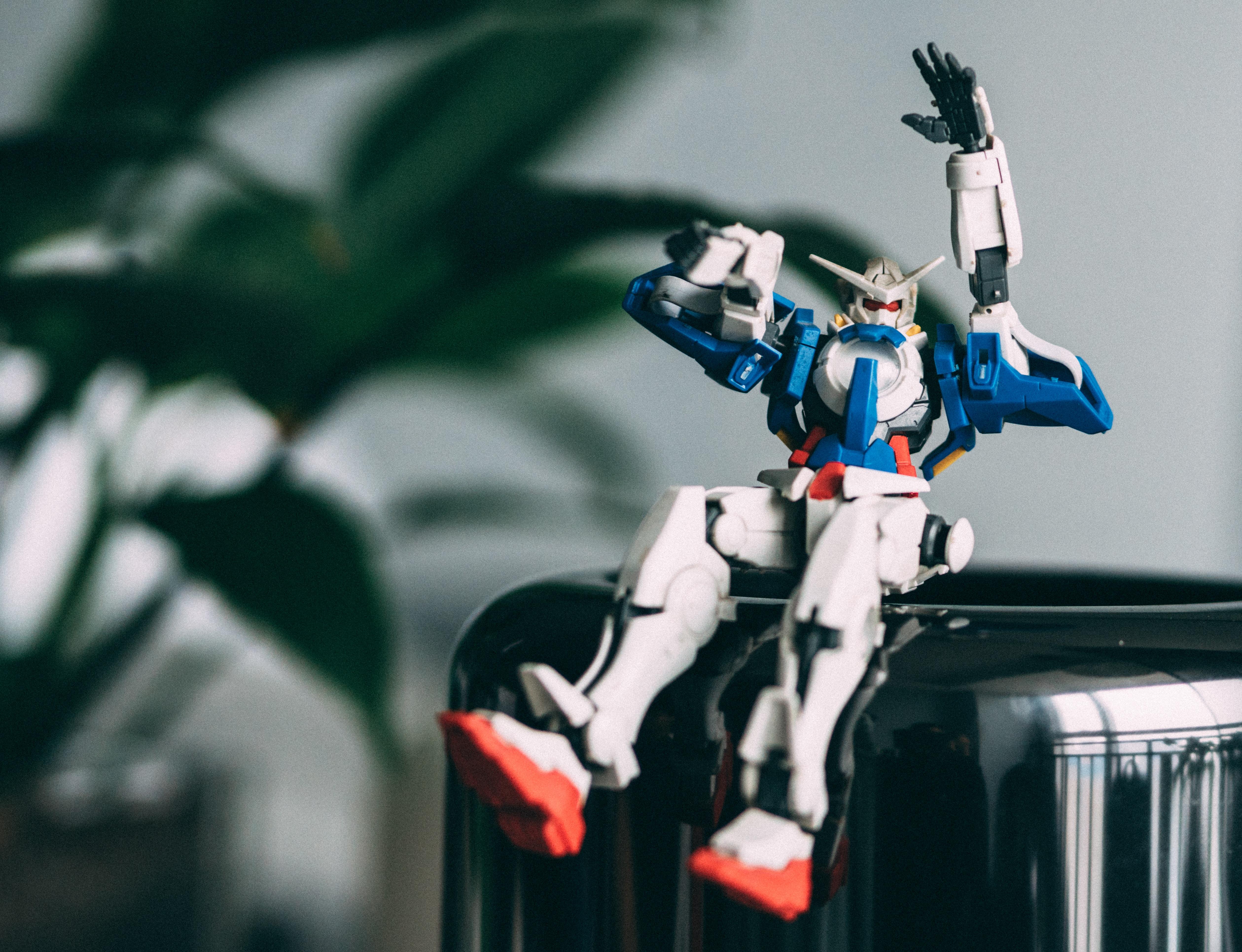 Gundam action figure on