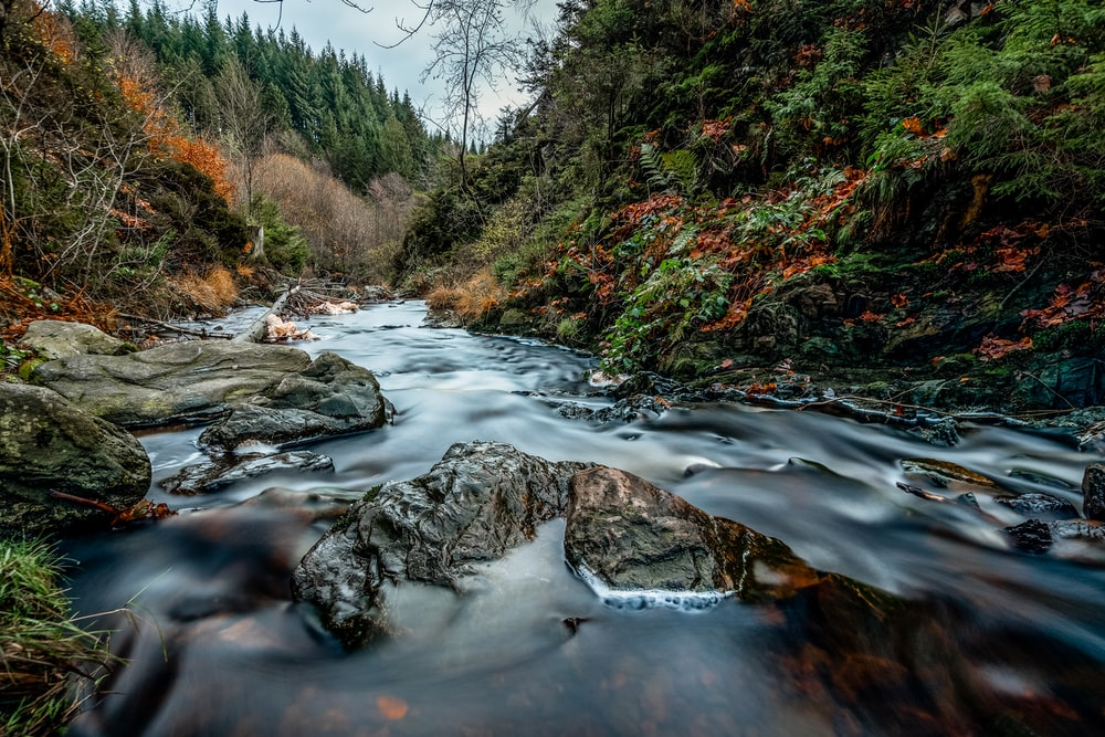 long exposure photography of river