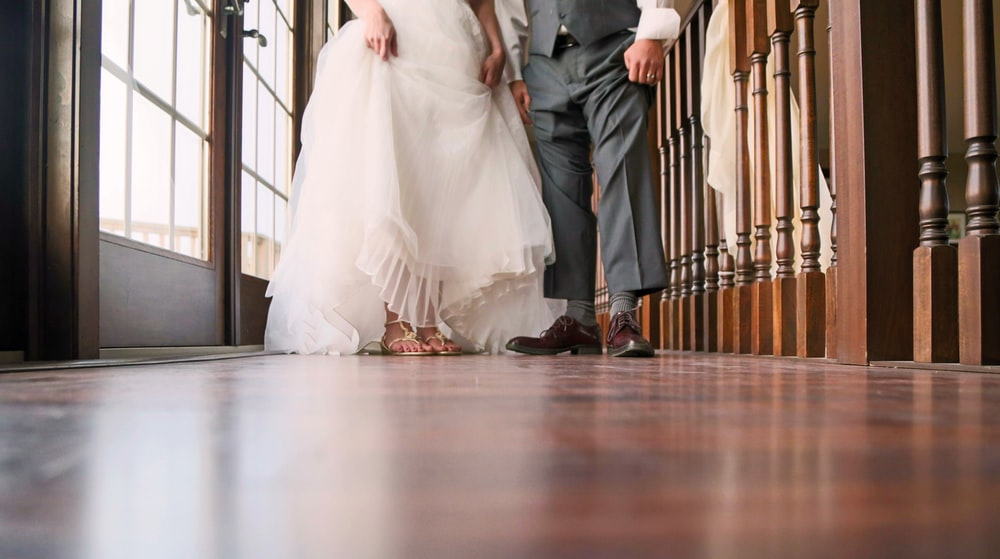 men and women's wedding outfits