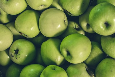 bunch of green apples apple teams background