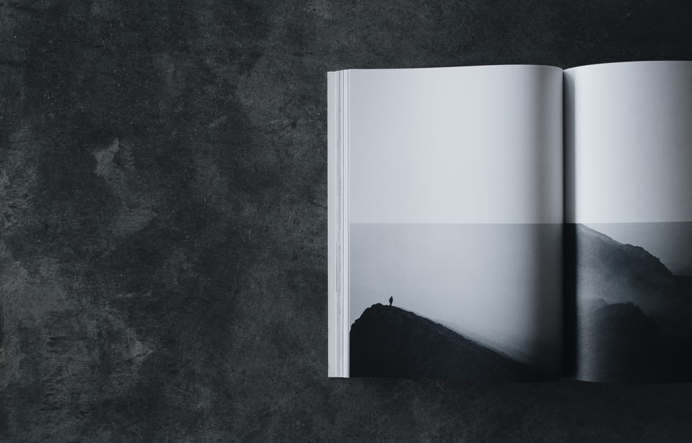 close-up photography of book page