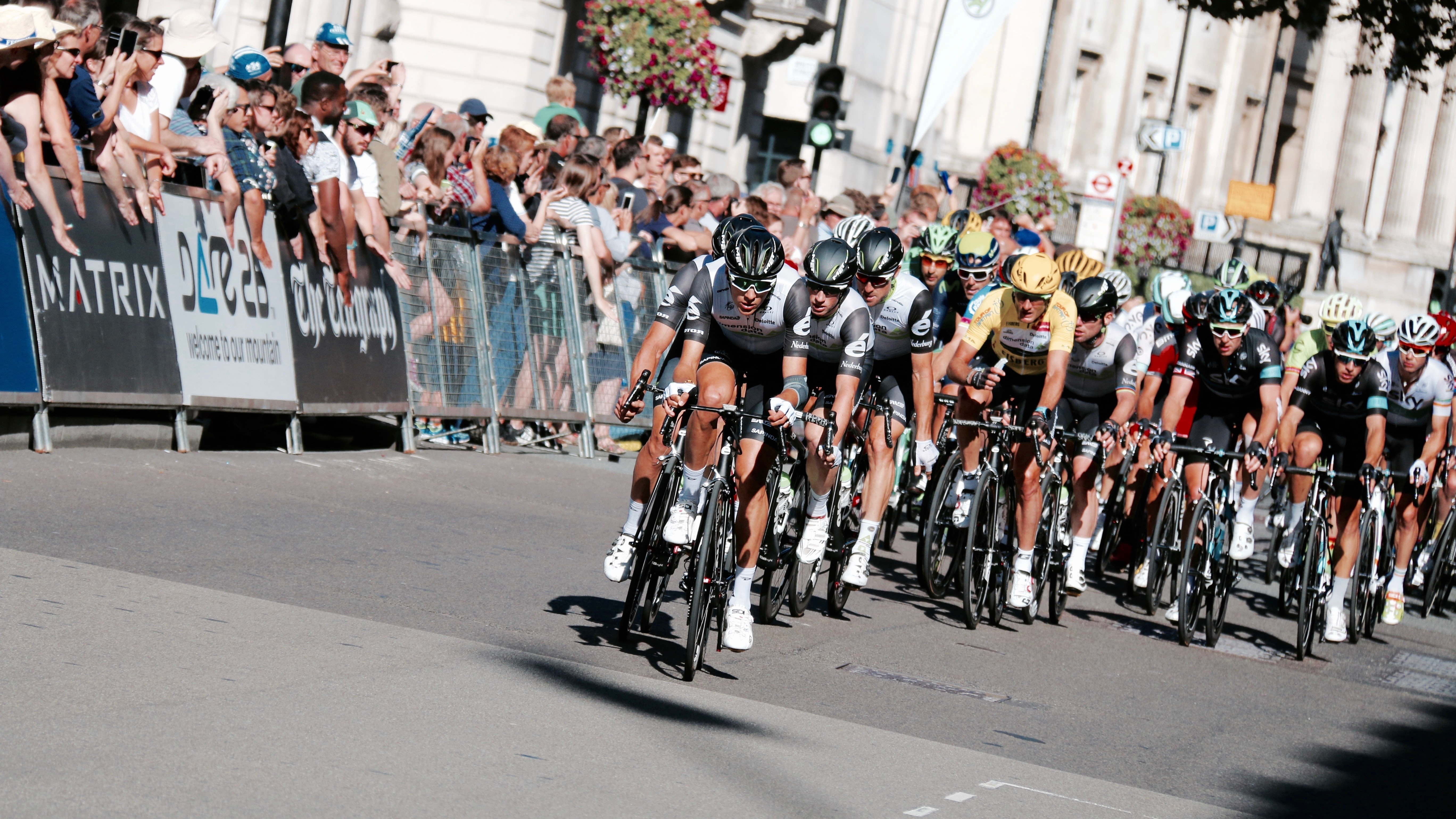 photo of cyclist competition
