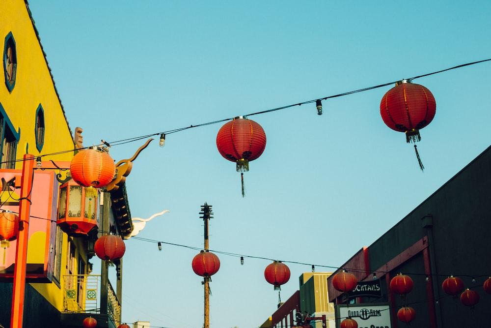 photo of red lanterns